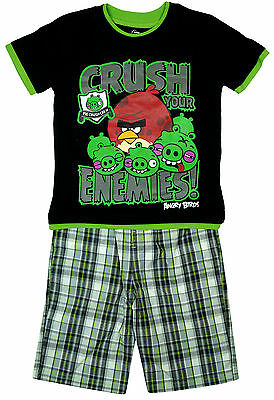 Boys T-Shirt Top Shorts Outfit Angry Birds Your Enemies Set 4 to 8 Years SALE