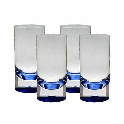 Royal Pack of 4 Clear Blue Acrylic Tumblers Camping Plastic Glasses 029518