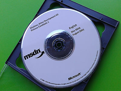 MSDN Microsoft Windows Driver Development Kit Release Candidate 1 0950 2001 Disc