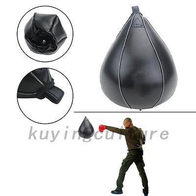 HOT PU Leather Speed Ball Boxing Punch Bag Training Speed Bag
