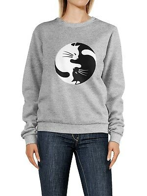 Cat Kitten Yin Yang Sweatshirt Pullover - Kitty Ying Yang Sweater