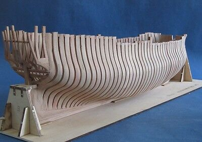 Scale 1/48 la salamandre wood ship model kit part 1