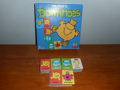 Mr Men Mr Silly's Dominoes RARE 1995 Edition TOMY