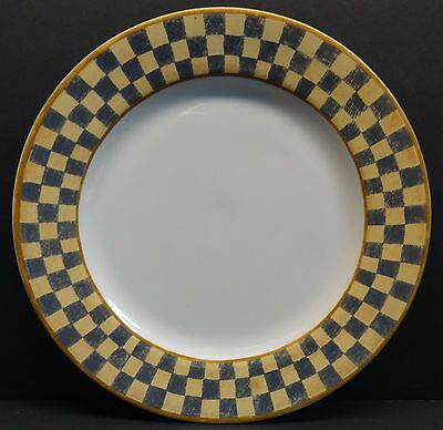 Block Country Orchard Dinner Plate Gray Yellow Checkered Multiples Available