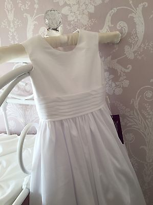 Beautiful White Flower Girl / Bridesmaid / Holy Communion Dress BNWT