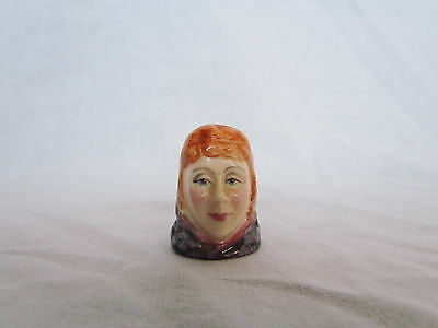 Francesca Character Head Hand Painted Thimble - Nancy, Dickens Collection