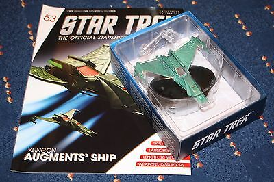 Star Trek Eaglemoss Klingon Vessel Augments Issue 53 With Magazine
