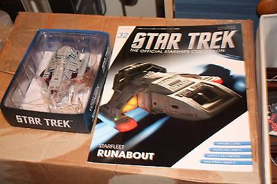 Star Trek Eaglemoss Ship Issue 32 Runabout With Magazine
