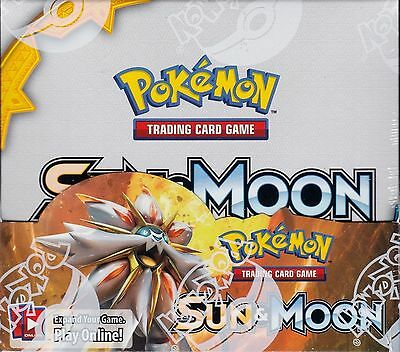 Pokemon Sun and Moon sealed unopened booster box 36 packs of 10 cards