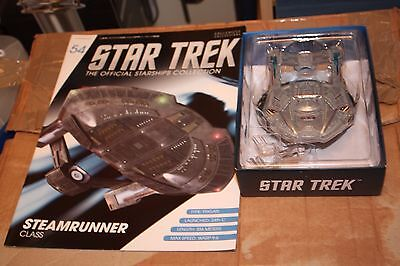 Star Trek Eaglemoss Ship Issue 54 Steam Runner Class With Magazine