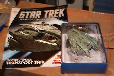 Star Trek Eaglemoss Ship Issue 71 Klingon Transport With Magazine