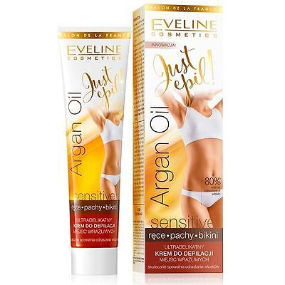 Eveline Just Epil Sensitive Hair Removal Cream Underarms Bikini Hands 125ml