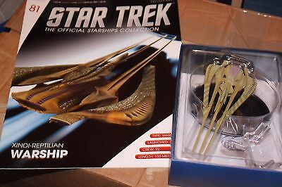 Star Trek Eaglemoss Ship Issue 81 Xindi Reptilian Warship With Magazine