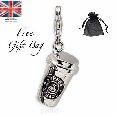 High Quality Coffee Addict Star Charm Gift Present Bucks Costa UK Mothers Day