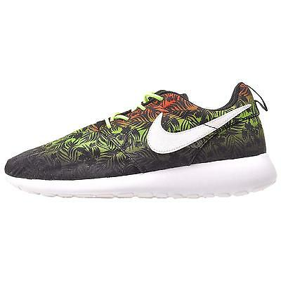 Nike Roshe One Print GS Kids Youth Running Shoes Black Lime 677782-800