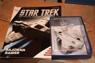 Star Trek Eaglemoss Ship Issue 74 Bajoran Raider With Magazine