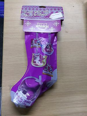 Whiskas Christmas Cat Stocking with Treats and Toy