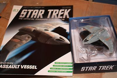 Star Trek Eaglemoss Ship Issue 83 Bajoran Assault Vessel With Magazine