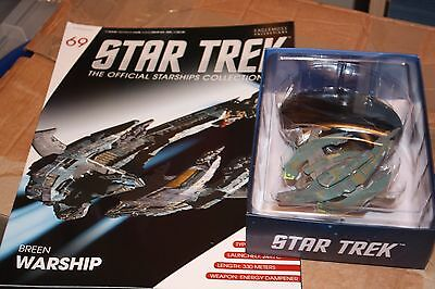 Star Trek Eaglemoss Ship Issue 69 Breen Warship With Magazine
