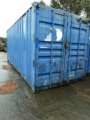 Steel 20ft ISO Container   Anti Theft  Lockbox fitted