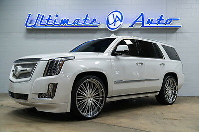 """2016 Cadillac Escalade Premium Collection $88.5K MSRP. 26"""" AlphaOne Wheels. Strut Grill. All customization done in-house."""