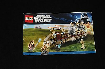 Lego Star Wars Battle of Naboo 7929  -  INSTRUCTION book only