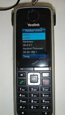 Yealink SIP-W52P extra handset with PSU and charging base VGC