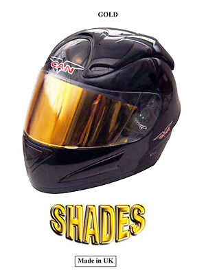 Helmet Visor / Gold / Shades Visor / Made UK