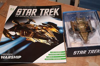 Star Trek Eaglemoss Ship Issue  51 Hirogen Hunter  With Magazine