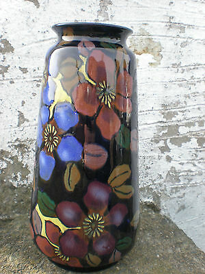 Royal Stanley Ware Colclough & Co Jacobean Clematis 1930s Art Deco Ceramic Vase