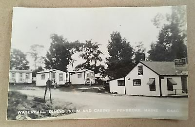 Waterfall Dinning Room and Cabins, Pembroke, Maine; RP POSTCARD