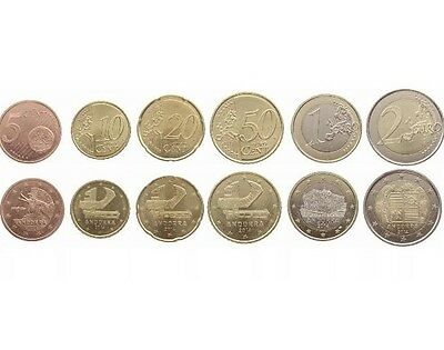 Andorra 2014 6 Coins Set: 5Cent- 2 Euro First Euro coin set New From Rolls Bunc