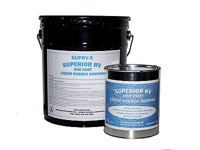 Rubber Roof Coating for RV / Camper / Trailer / Motorhome / 5th Wheel
