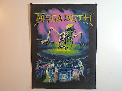 Vintage  MEGADETH  80s Unused BACK PATCH  metal thrash sodom slayer lp t shirt
