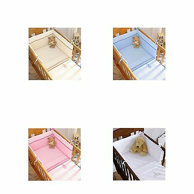 Izziwotnot Baby / Bedtime Gift 2 Piece Cotton Crib Set - Coverlet And Bumper