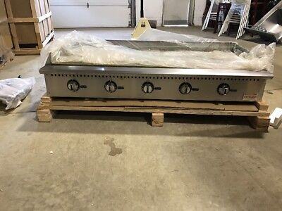 "Commercial 60"" Thermostatic Control Gas Griddle"