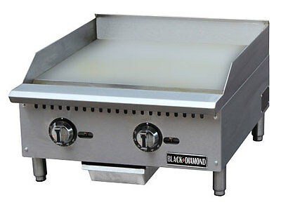 "24"" Commercial Thermostatic Controlled Gas Griddle"