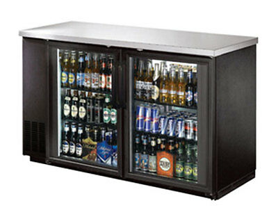 "Commercial Back Bar Cooler 59"" Glass Door"