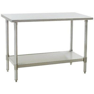 """COMMERCIAL 24"""" x 48"""" STAINLESS STEEL WORK TABLE NSF APPROVED"""