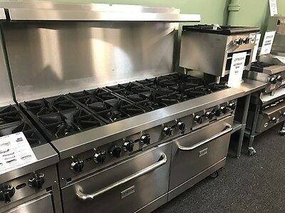 "Commercial 10 Burner Gas Range 60"" w/Ovens"