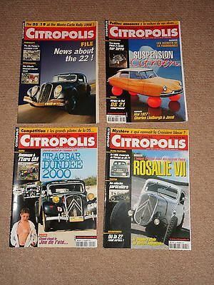 4x CITROPOLIS MAGAZINES CITROEN 2CV - 3x French Issues + Issue No. 1