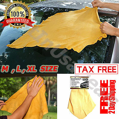 Natural Chamois Leather Cloth Car Cleaning Wipe Genuine Washing Towel Sheepskin