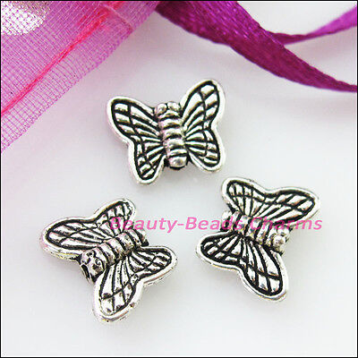 30 New Charms Animal Butterfly Spacer Beads 8.5x10mm Tibetan Silver