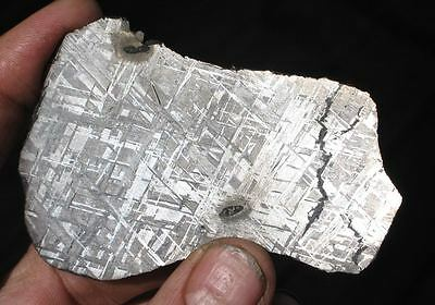 GORGEOUS 87g ETCHED GIBEON METEORITE FULL SLICE W/ BRILLIANT ETCH!!! BEAUTIFUL!