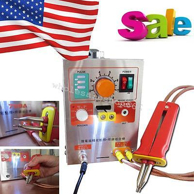USA 2 in 1 Pulse spot-welding 709A Battery soldering Machine AC 110V 60A Adjust
