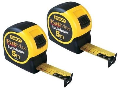 Stanley STA033720 Fatmax 5m Blade Armor Metric Only Tape Measure 0-33-720 New X2