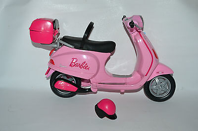 Barbie Vespa Pink Scooter/ Motorcycle And Helmet
