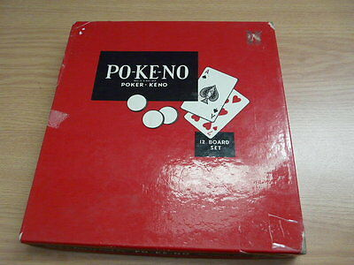 Vintage Po-Ke-No Cards Game By Poker-No ( 12 Cards )