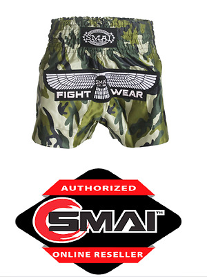 SMAI muay thai shorts blue SALE FIGHT KICK BOXING LARGE EXTRA LARGE L XL CAMO