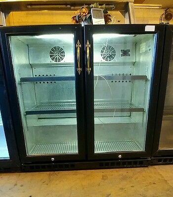 under counter 2 double hinges doors back- bar bottle & Restaurant cooler fridge